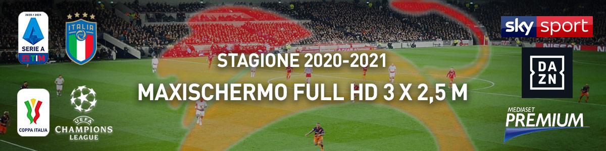 Leone d'Oro Telgate partite du calcio Serie A e coppe su Maxischermo