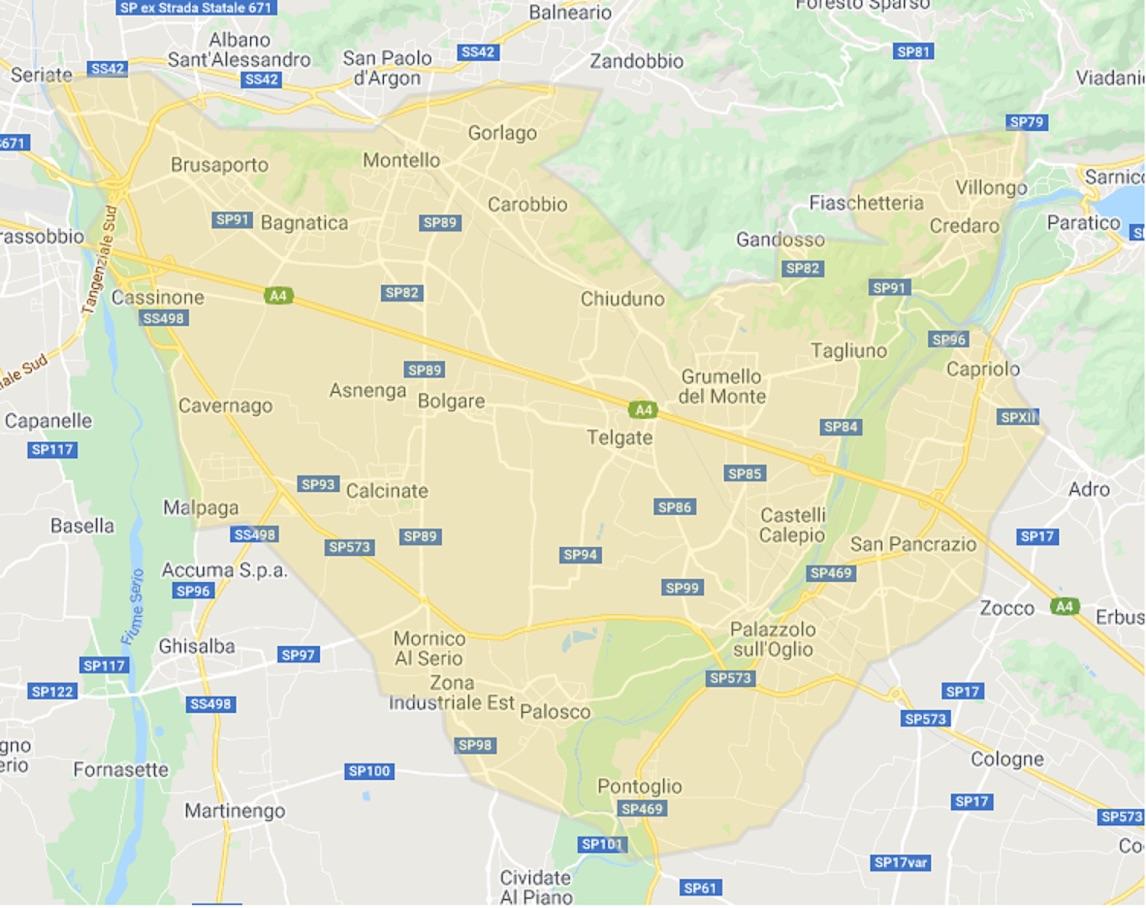 Mappa consegna