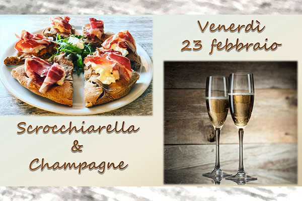 Menù Serata Scrocchiarella e Champagne