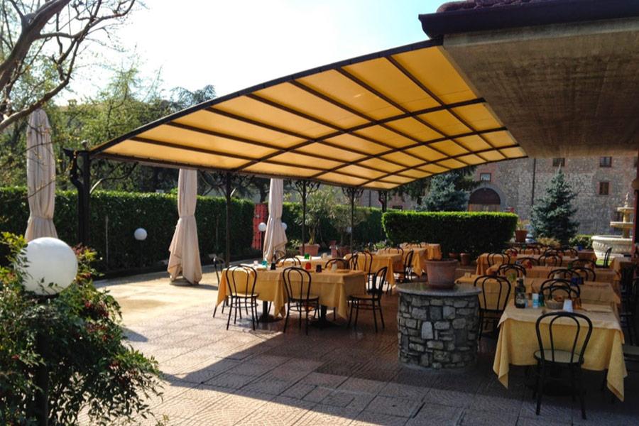 Veranda spazio esterno ristorante Leone d'Oro