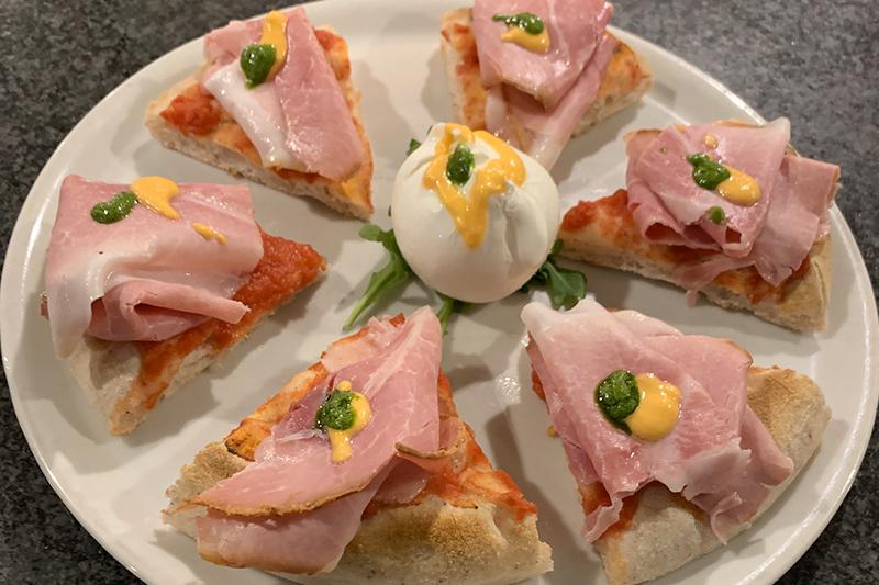 Pizza gourmet senza glutine Cotto san Giovanni