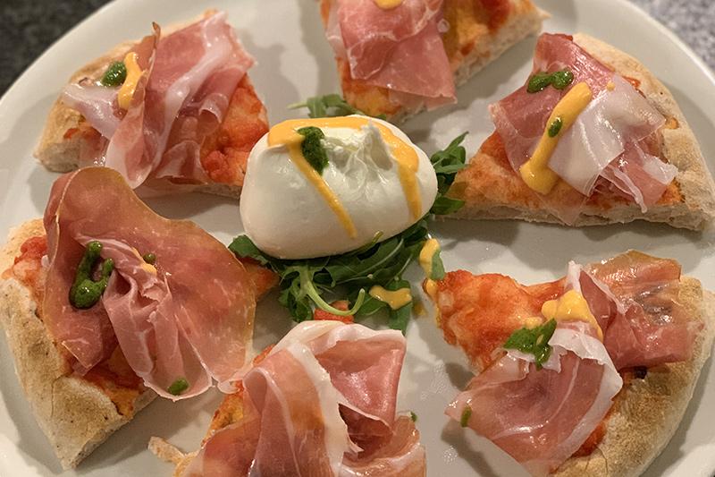 Pizza gourmet senza glutine Crudo di Parma